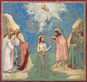Giotto, Bapteme du Christ