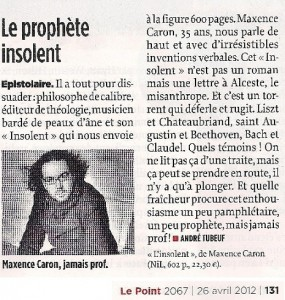 Article Le Point (image cliquable)