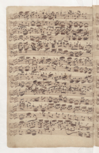 Manuscrit de la fugue BWV 858