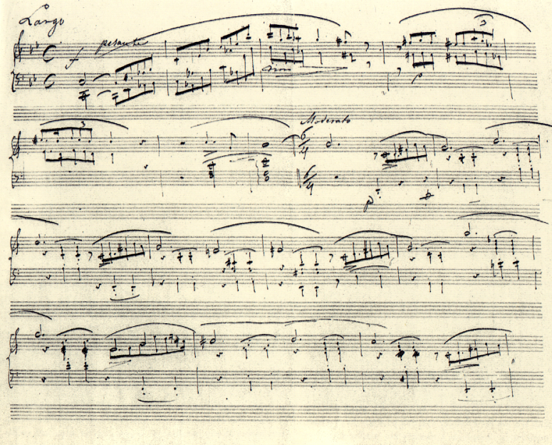 Chopin manuscrit Ballade 1
