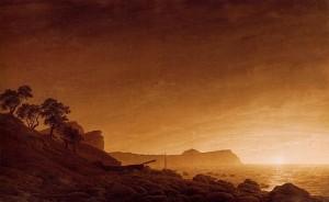 """Vue d'Arkona"", Sepia de Caspar David Friedrich"
