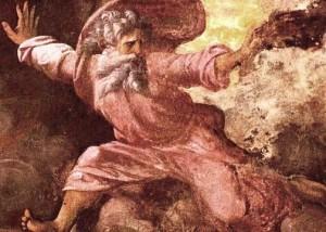 Le Dieu créateur par Raphael, détail de fresque du Palais Pontifical, Vatican