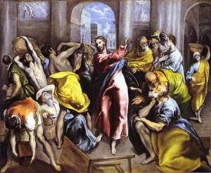 El Greco, Le Christ chassant les marchands du Temple, 1600