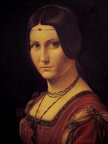 Léonard, La Belle Ferronniere (détail)