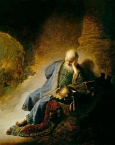 Rembrandt, Jérémie pleure sur les ruines de Jérusalem