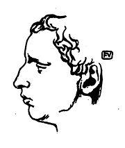 Paul Claudel par F. Vallotton