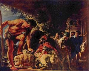 Ulysse dans la cave de Polyphème, par J. Jordaens