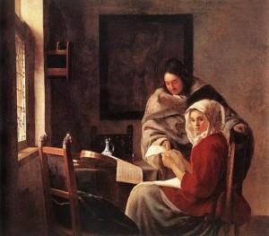 Vermeer, Le leçon de musique interrompue