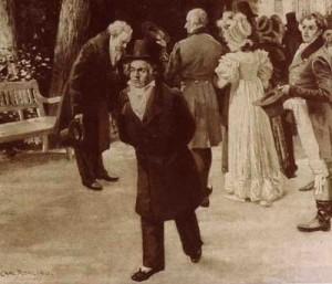 Beethoven et Goethe en 1814