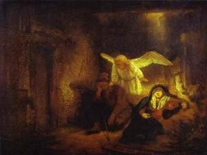 Rembrandt. Le Songe de saint Joseph. 1645.