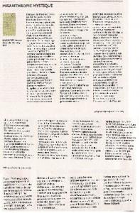 L'Insolent dans Le Magazine des Livres, avril 2012 (cliquer pour agrandir)