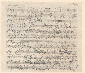 Chopin manuscrit nocturne posthume