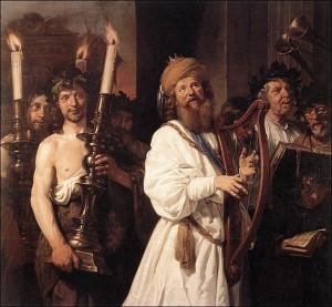 Jan de Bray, Le roi David chante les psaumes