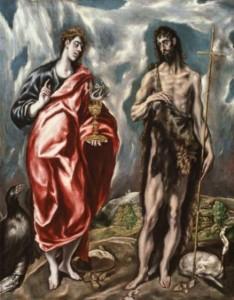 El Greco, Saint Jean l'Evangeliste et saint Jean-Baptiste