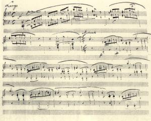 Chopin manuscrit Ballade 1
