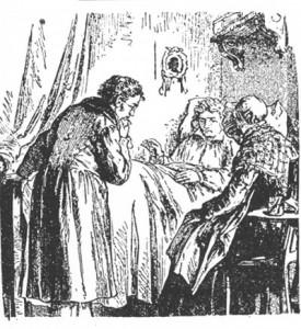 Schubert au chevet de Beethoven sur son lit de mort