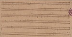 Schubert, manuscrit de travail du 1er Impromptu op 90