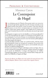 Couverture Caron Contrepoint Hegel2