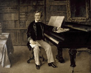 Richard Wagner am Fluegel / Eichstaedt - Richard Wagner playing piano/ Eichstaedt -