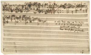 Manuscrit de L'Art de la Fugue : dernière page inachevée
