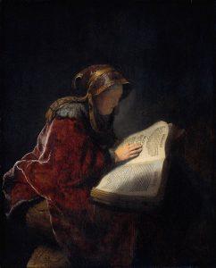 rembrandt-portrait de sa mere en prophetesse anne