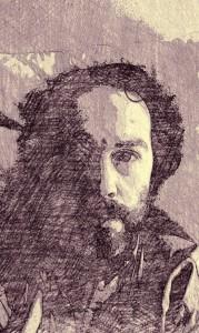 Maxence Caron (dessin au crayon)