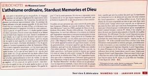 bloc-notes janvier 2020