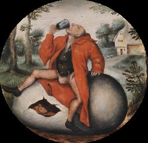 Brueghel, Ivrogne couvant un oeuf